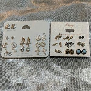 19 pairs of earrings by icing sensitive ears.